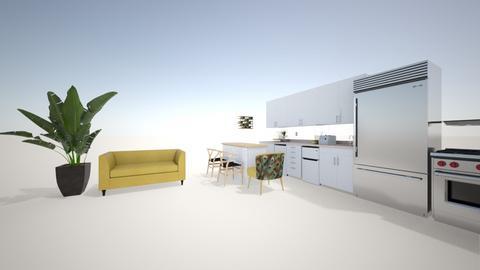 cocina y sala - Living room  - by Ana pimental