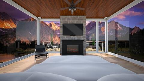 Mountains - Bedroom  - by nkanyezi