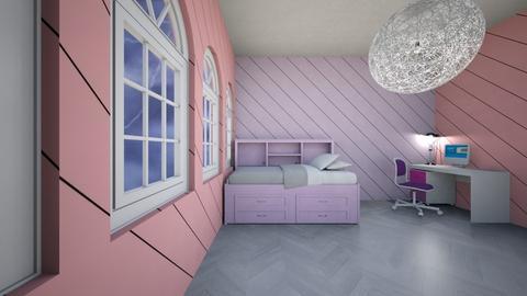 PinkAndPurple_Bedroom - Bedroom  - by xxxItsDesignerGirl
