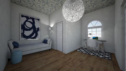 Office Guest Room - Feminine - Bedroom  - by marymbarbee