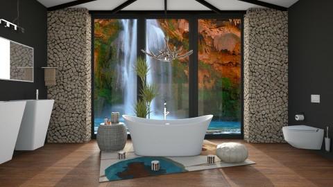Bath in the Waterfall - Bathroom  - by DeborahArmelin