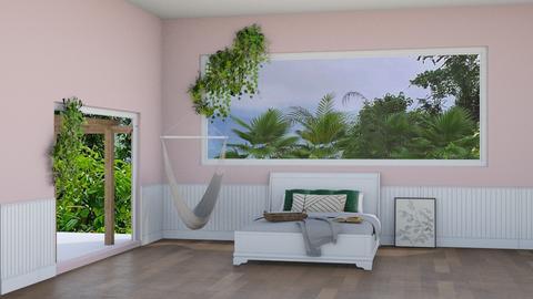 Tropical Bedroom - Feminine - Bedroom  - by crystal_clear_skies