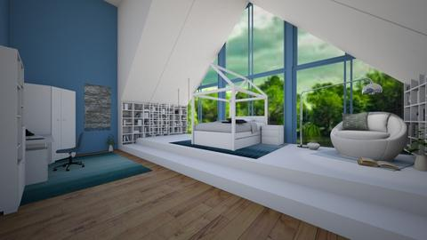 Teal_for_Lambogirl - Bedroom  - by light_of_grace