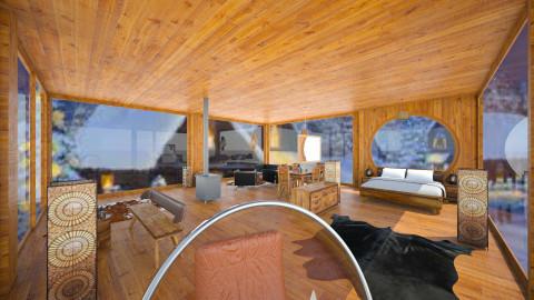 wood romance - Rustic - Living room  - by Alireza Jalali
