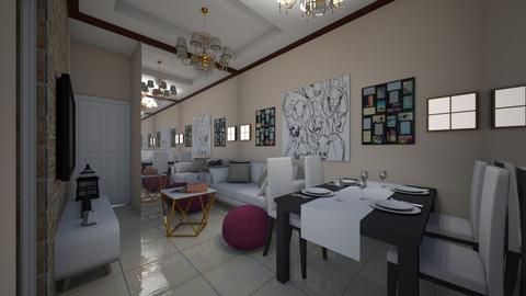 Condo1 - Living room - by ClaveriaCarla
