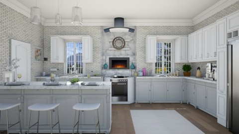 M_Old and modern - Kitchen - by milyca8