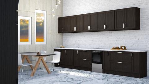 Lake House  - Kitchen  - by designkitty31