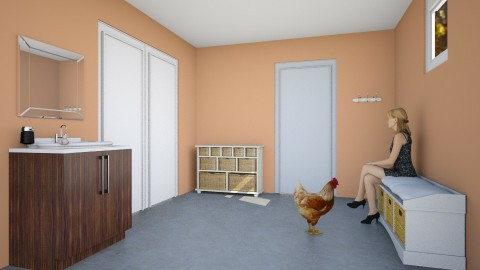 Basement Mudroom - Rustic - by EchoVakarian