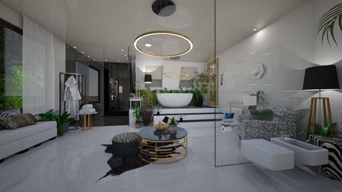 Jungle bathroom 2 - Eclectic - Bathroom  - by tieganclayton
