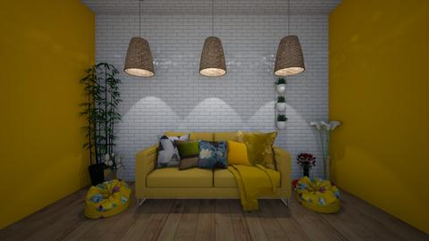 kittycat28 Mustard room - Living room  - by Its hamzah