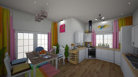 colourful kitchen ii - Kitchen  - by uniquecorn