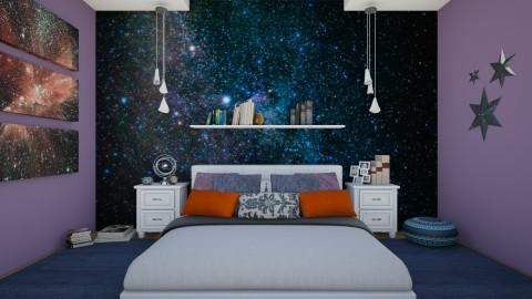 Galactic Bedroom - Modern - Bedroom  - by DeborahArmelin