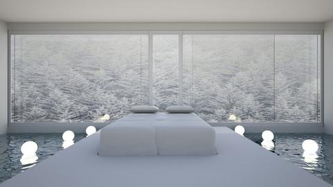 Bed on water - Modern - Bedroom  - by its lia