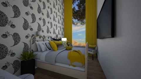 black and yellow - Modern - Bedroom  - by roomybabes009