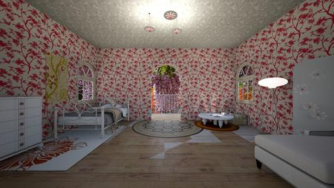 japnese bedroom - by seasidestarfish