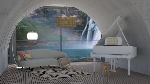 Claudia minimalist - Living room  - by quesal0l2347