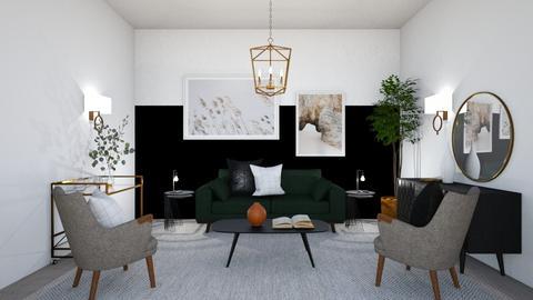 Moody Modern Entrance - Living room  - by KylaTH