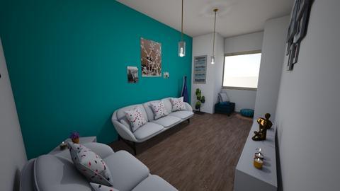Sala azul - Living room - by MeganPS