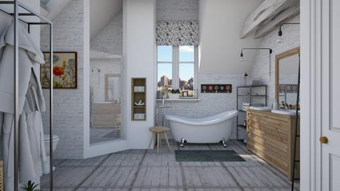Attic bathroom - Bathroom - by Lizzy0715