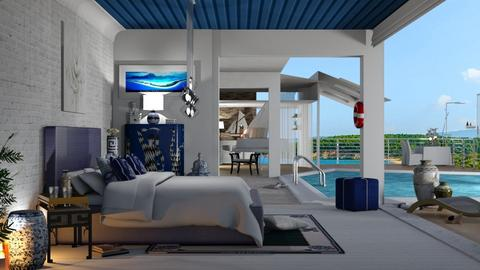 modern greek villa - Bedroom  - by nat mi