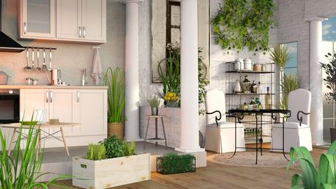 Urban Jungle Kitchen - Eclectic - Kitchen  - by Sally Simpson