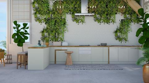 Urban Jungle Kitchen  - Modern - Kitchen  - by NEVERQUITDESIGNIT