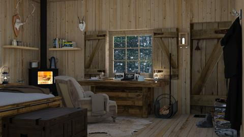 Mountain Hut - Rustic - Living room  - by Claudia Correia