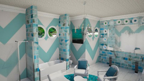 Tiffany Blue Bath - Modern - Bathroom  - by DiamondJ569