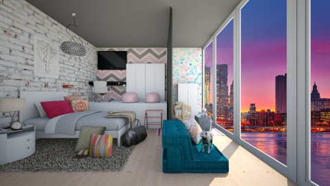Shared Bedroom - Modern - Bedroom  - by bgref
