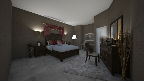 BROWN BROWN - Rustic - Bedroom  - by yamz