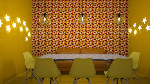 red yellow orange BICH - Eclectic - Dining room - by thelmatt