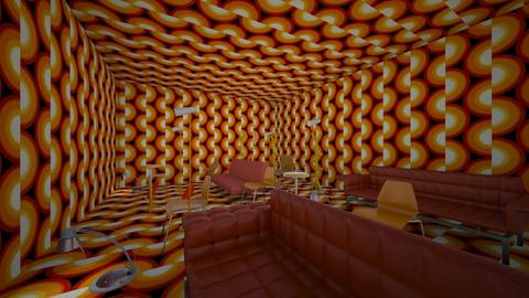 Weird Orange Room - by fuzzybunny