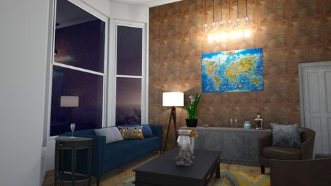 living room at night - Living room  - by Corzer