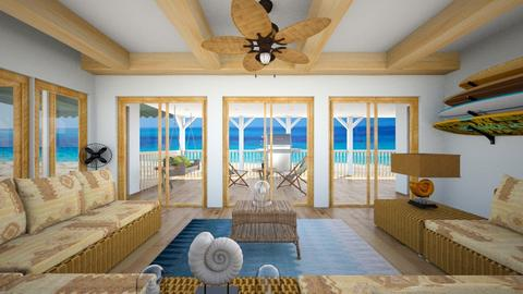 Hawaii Beach House - Living room  - by SammyJPili