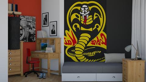 Cobra Kai Inspired Bed - Bedroom  - by Chayjerad