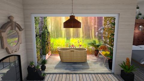 Outdoor bath - Bathroom  - by augustmoon