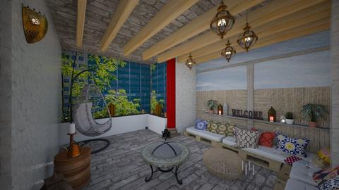 plan mansarda chill out - Kitchen - by TusaTimea