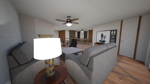 Kruger Condo - Eclectic - Living room  - by ryahnke05