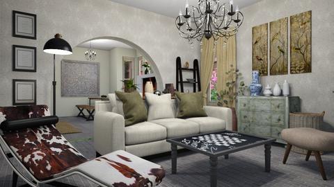 eclectic lr - Living room  - by steker2344