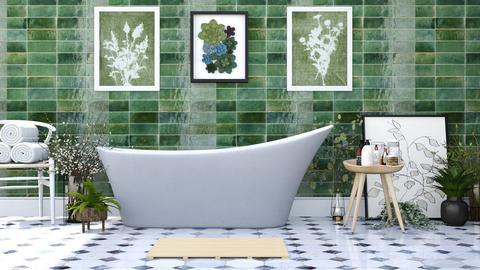 freestanding  - Minimal - Bathroom  - by Happyspaniel