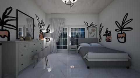 white room - Classic - Bedroom  - by alexa0921