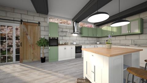 Soft farmhouse kitchen  - Kitchen  - by Linzee_el529