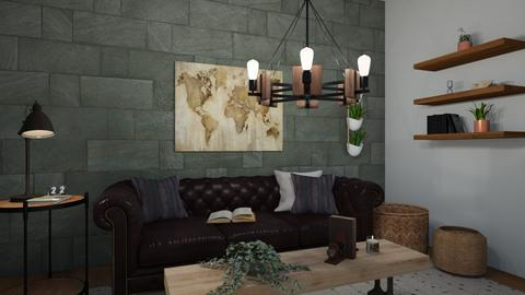 Traveling Nook - Rustic - Living room  - by CloneAMA