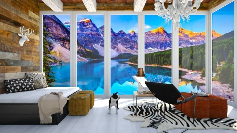Banff Cabin - Vintage - Living room  - by bgref