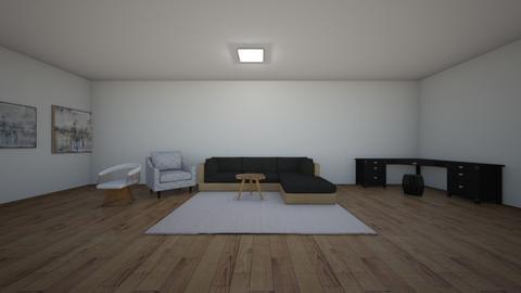 Black n White - Living room  - by hannahelise