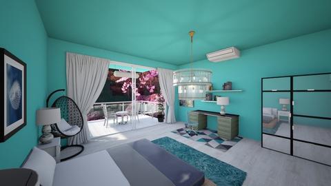 Turq - Bedroom - by Ayayako