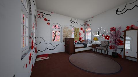 sakura - Modern - Kids room - by wolfiewolf123