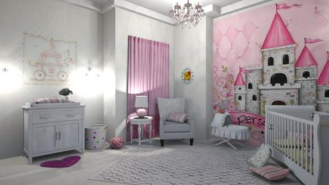 PINK  - Kids room  - by matina1976