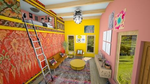 Boho Cabin - Retro - Living room  - by Alexis260116