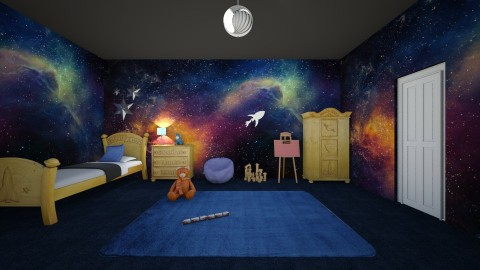 Space Room - Kids room  - by AmelieDoughty